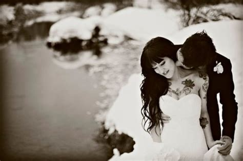 tattoo couple sex black and white hair ink inked image 275218 on
