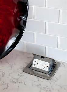Pop Up Electrical Outlet Countertop kitchen design idea install a pop up outlet directly
