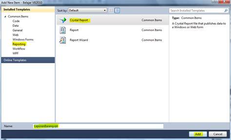 cara membuat laporan laba rugi dengan crystal report cara membuat laporan crystal report dengan vb 2010