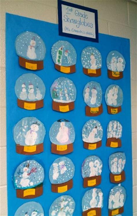 christmas art ideas for second grade class snowglobes 1st with mrs nguyen