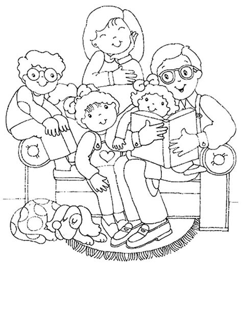 coloring page of family big joint family coloring pages batch coloring