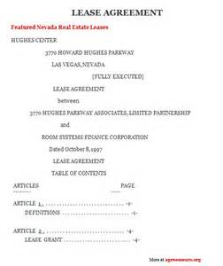 nevada lease agreement sample nevada lease agreement