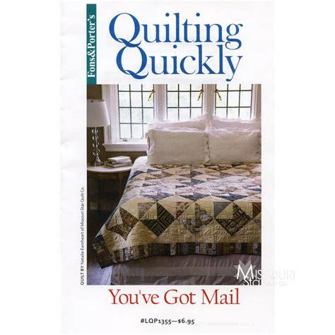 quilt pattern you ve got mail you ve got mail pattern fons porter missouri star