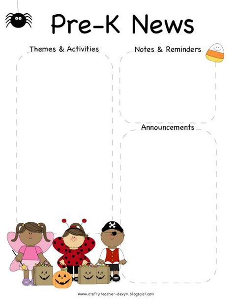 free pre k newsletter templates 1000 ideas about newsletter templates on