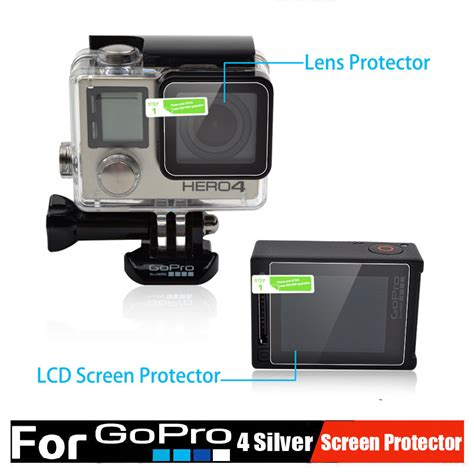 Antigores Gopro 4 Screen Protector gopro accessories 4 silver screen protector ultra clear