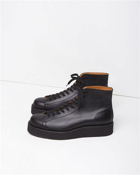 mens demi boots yohji yamamoto demi boots in black for lyst