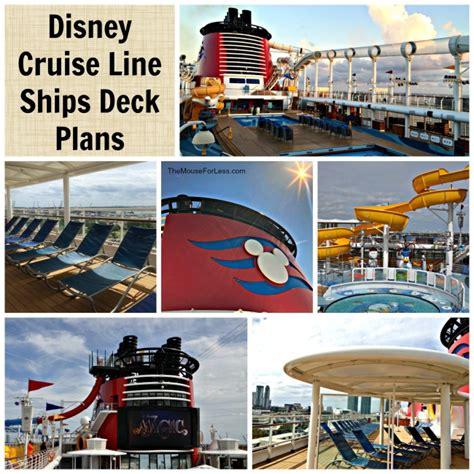 deck plans  disney cruise  ships view