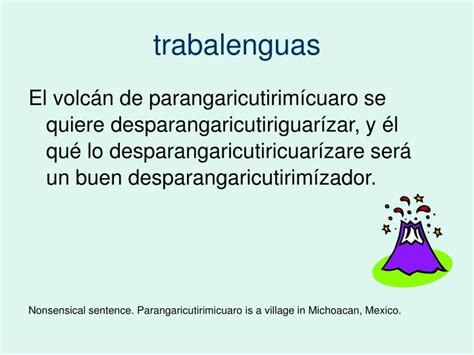 trabalenguas con ll trabalenguas ppt trabalenguas powerpoint presentation id 1739040
