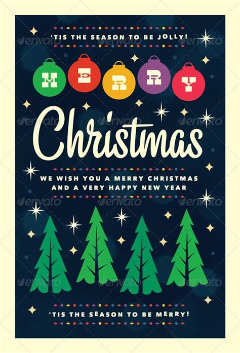 free card templates be merry merry flyer template flyer and