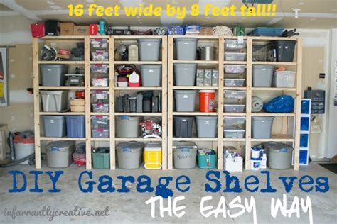 No Garage Storage Ideas How To Build Garage Shelves Infarrantly Creative
