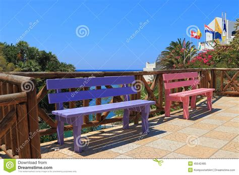colored benches colored benches