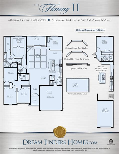 dream finders homes floor plans fleming ii dream finders homes