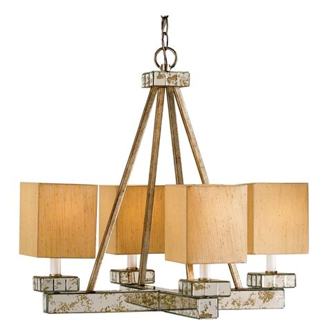 Mid Century Modern Chandelier Lighting Mid Century Modern 4 Light Chandelier With Antique Mirror Kathy Kuo Home