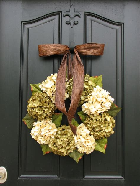 Hydrangea Decor by Wreaths Hydrangea Wreath Hydrangea Blooms Wedding Decor Wreat