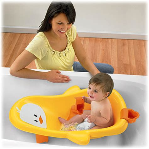 ducky bathtub grow with me insert removes so older babies can sit up play