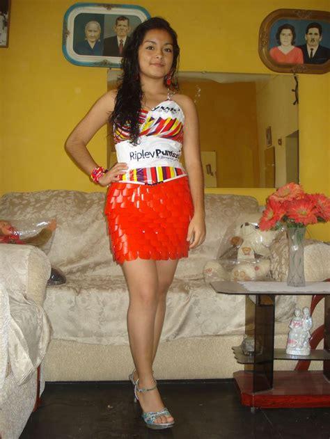 vestido de reciclaje vestidos hechos  reciclaje