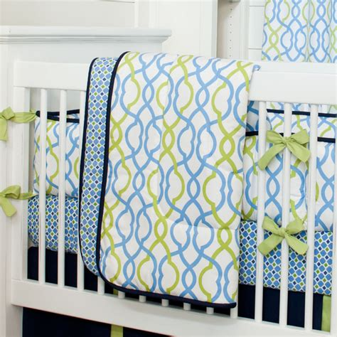 Contemporary Crib Bedding Navy Waves Crib Comforter Contemporary Baby Bedding Atlanta By Carousel Designs