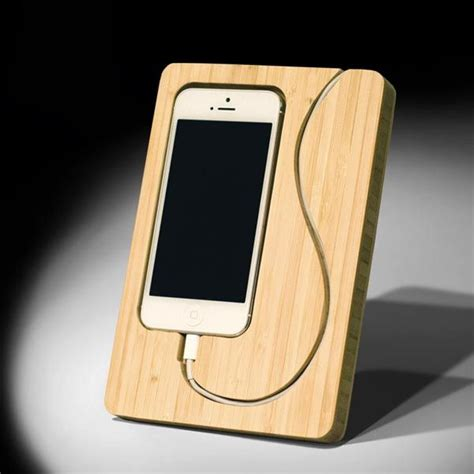 creative wooden iphone stands home decor wood
