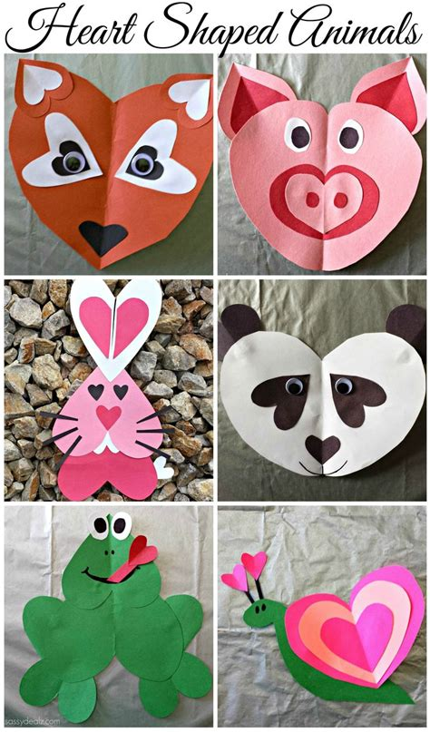 valentines day animals s day shaped animal crafts for
