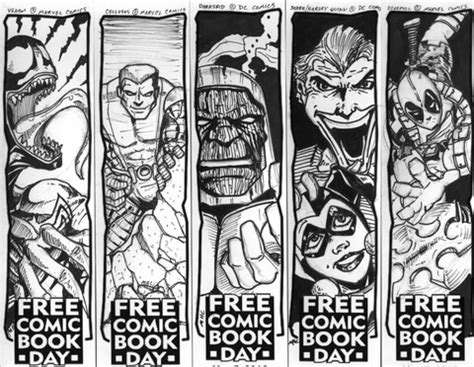 printable deadpool bookmarks venom colossus darkseid joker harley quinn and