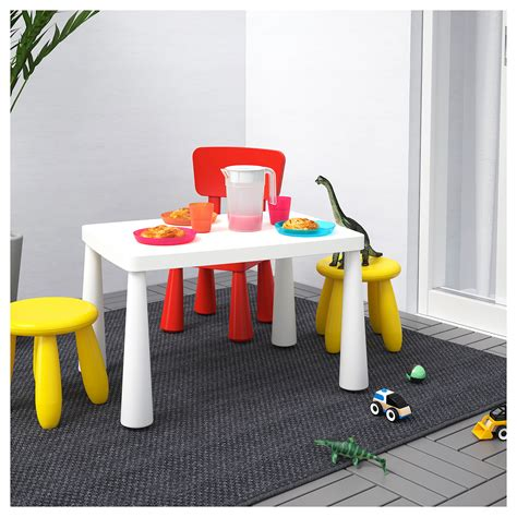 ikea childrens table mammut children s table in outdoor white 77x55 cm ikea