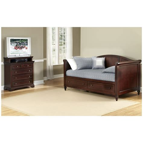 lafayette daybed and media chest 422151 bedroom sets at