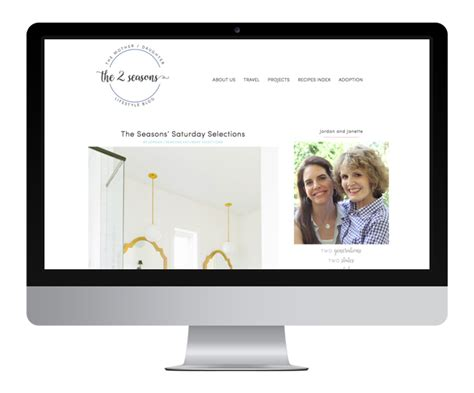 lifestyle blog design the 2 seasons jelly design studio