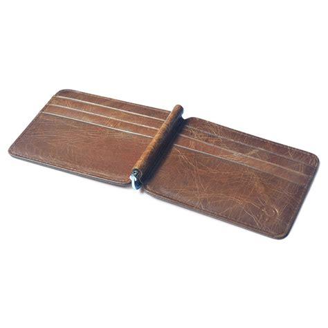 Money Clip Penjepit Uang dompet kartu kulit dengan money clip besi penjepit uang
