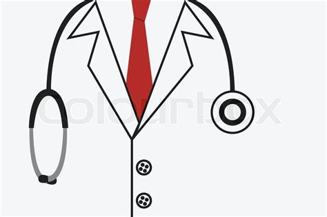 Home Office Inspiration by Doctor Suit With Stethoscope Stock Vector Colourbox