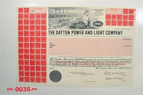 dayton power light company dayton power and light co ca 1960 1970 specimen stock