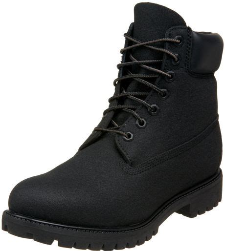 timberland mens 6 premium scuffproof boot in black for