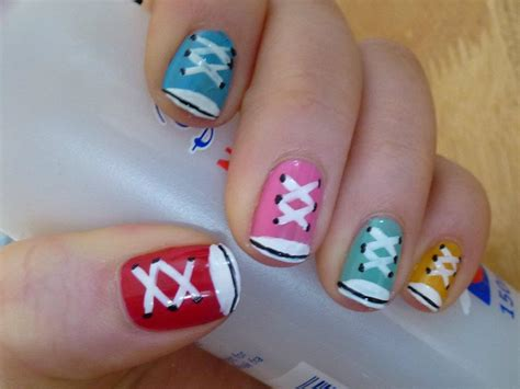 easy nail art converse converse nail art by stars1919 on deviantart