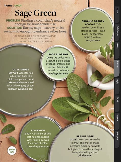 paint colors green bhg oct 2013 paint colors and color schemes pinterest