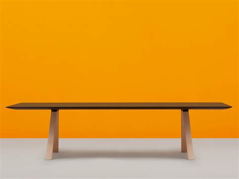 bench of arki table rectangular table by pedrali design pedrali r d