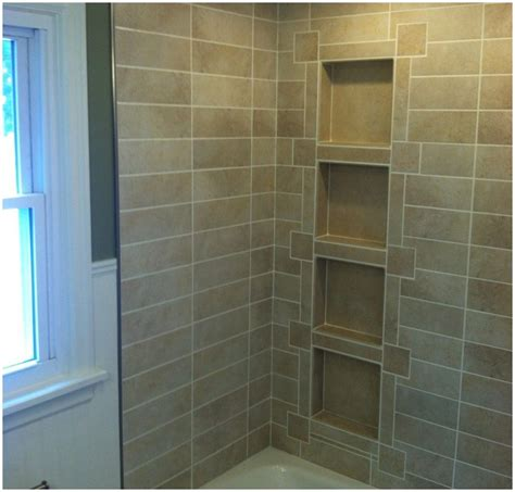 How To Add Shelves To Tile Shower To Tile Recessed Ceramic Shower Shelves