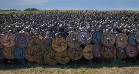 weapons   How tight were shield walls in Saxon England