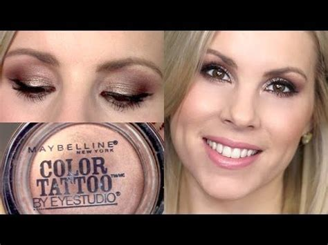 tattoo makeup youtube eyeshadow tutorial bad to the bronze maybelline color