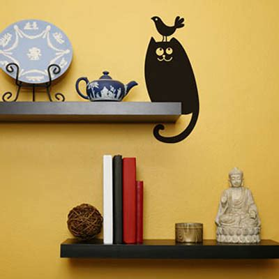 cat wall stickers black cat wall stickers modern interior decorating ideas