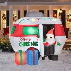 gemmy 6 inflatable santa in rv 87076 airblown santa in cer rv yard decor 6 5 ft buy it now 129 00 travel
