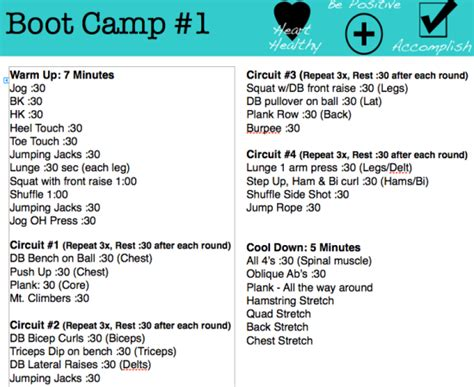 printable boot c workout gotrainergirl