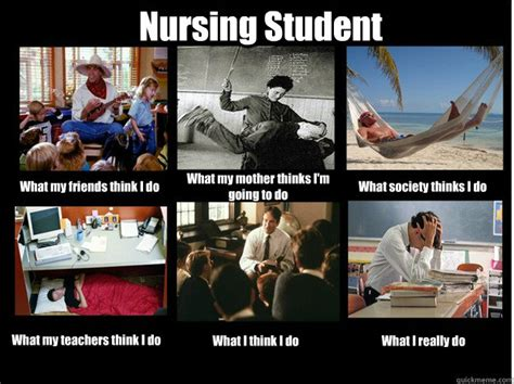 nursing student what my friends think i do what my mother
