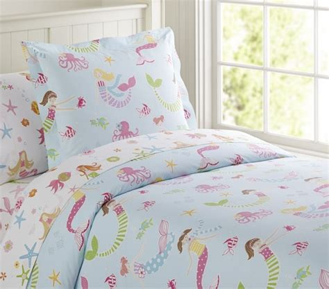 Mermaid Sheet Set Pottery Barn Kids Mermaid Bedding Set