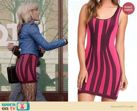 Dress Bodycon Stripe Blue Purple Reqame s purple and pink striped bodycon dress on the carrie diaries details http