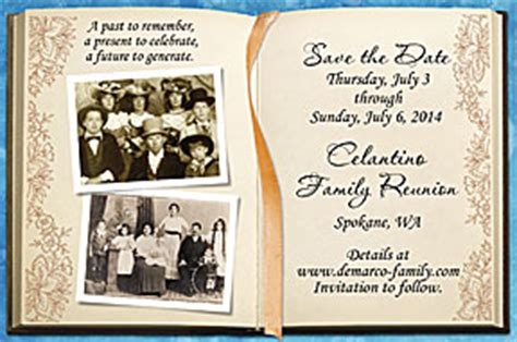 family reunion book template personalized family reunion favors and save the date cards