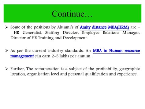 Mba In Hm In India by Amity Distance Learning Mba In Hrm Human Resource