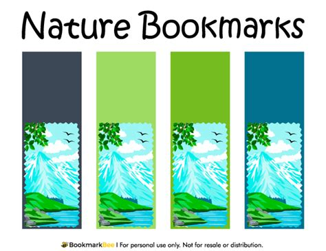 free printable nature bookmarks free printable nature bookmarks each bookmark features a