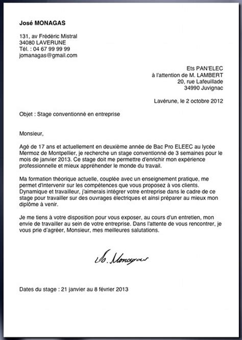 Lettre De Motivation Stage Réponse Offre Modele Lettre De Motivation Stage Observation Document