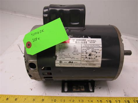 start capacitor for 3 4 hp motor dayton 4k859be 3 4 hp electric motor capacitor start 115 208 230v 1725 rpm ebay