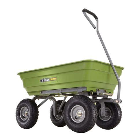 gorilla carts 600 lb poly garden dump cart gor4g