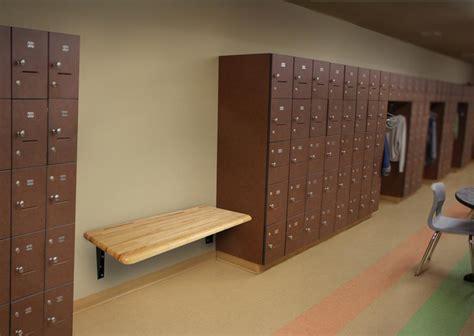 ada locker room bench wisconsin bench hardwood ada wall mount bench 24 quot d x 48